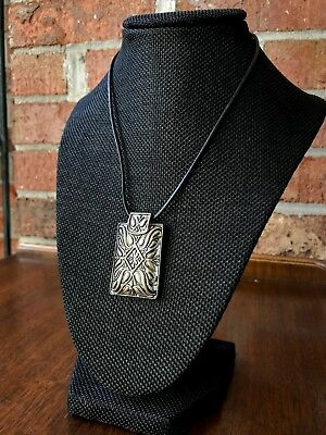 60s -70s Jewelry – Necklaces, Earrings, Rings, Bracelets Vintage 1960s Rectangular Silver Toned Pendant Necklace with Stone Clasp $39.99 AT vintagedancer.com