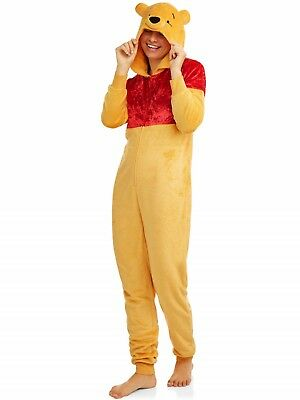 Plus Size Winnie The Pooh Costume (Winnie the Pooh Bear Pajamas Womens Plus Size 2X Union suit One Piece Costume)