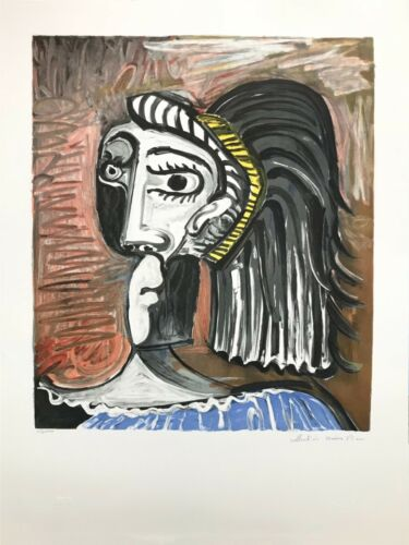 "Marina Pablo Picasso Estate ""tete De Femme"" 