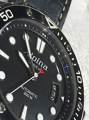 Alpina Extreme Diver Truly Excellent On ALPINA LEATHER Band Deployment Buckle