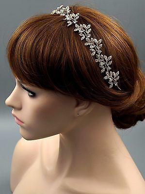 Bridal Jewelry Accessories Wedding Headpiece Crystal Headband Hair Pin Tiara 27G
