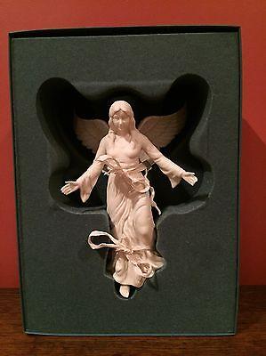 Lenox 1980's Bisque Renaissance Angel Tree Topper Ornament
