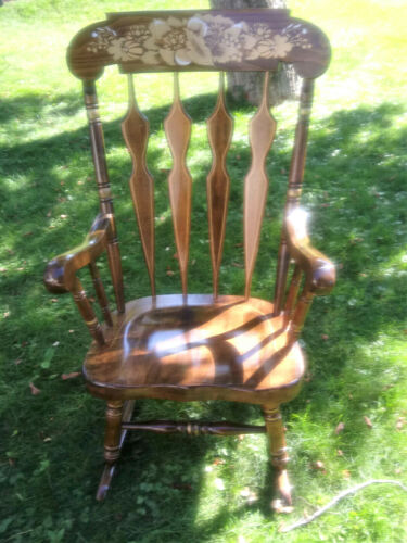 Vintage Wooden Rocking Chair Made In Yugoslavia - Novoles Straza 83