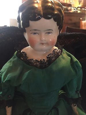 Antique China flat head Doll 13 Inches