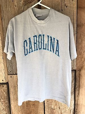Rare Vtg 90S Unc North Carolina Tarheels Gray Basketball Mens Camp T Shirt Usa