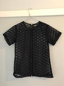 Camilla and Marc navy lace top, size 8 Edgecliff Eastern Suburbs Preview