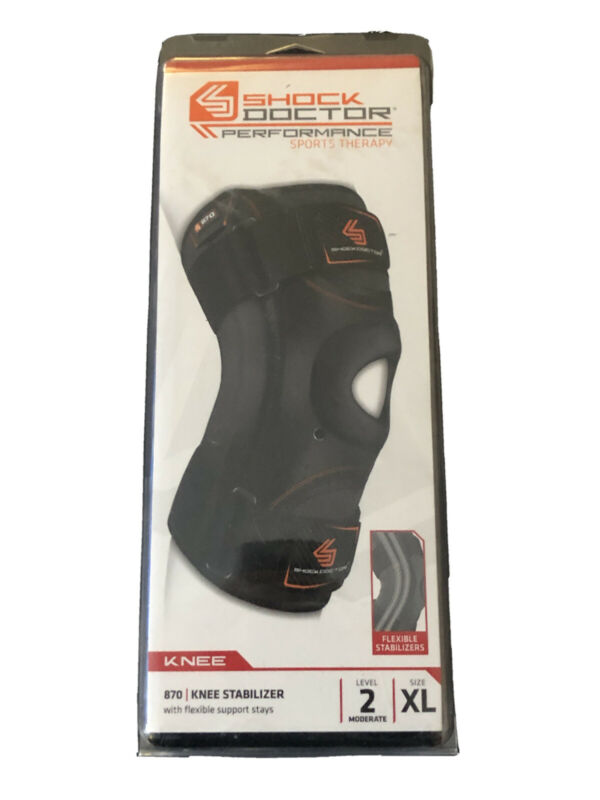 Shock Doctor 870 Knee Stabilizer w/ Flexible Support Stays - XLarge New Open Box