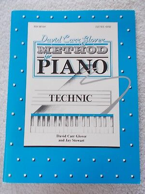Glover Method Piano Technic Level 1 Elementary Unmarked