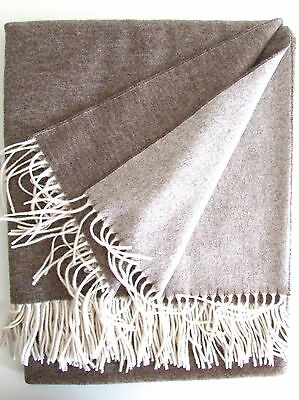 Cashmere Blanket both Sides Beige/Cream,Wool Blanket from Cashmere, 150x210 CM