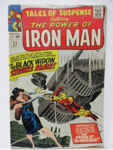 1964 Marvel- Tales of Suspense #53 Iron Man Gold Armor / 2nd Black Widow