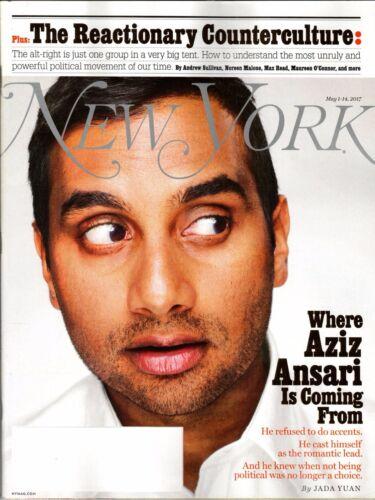 NEW YORK  MAGAZINE MAY 1 -14 2017 WHERE AZIZ ANSARI IS COMING FROM