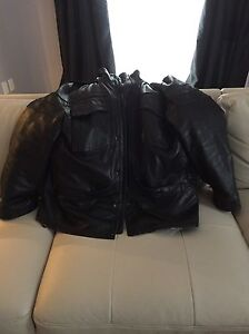 XXL real leather jacket with removable vest - West Island Greater Montréal image 5