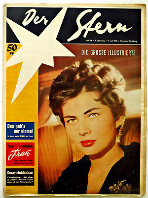 *Der Stern* Nr. 28/ 14.7.56 Soraya,Ufa-Fest, 1950er Original