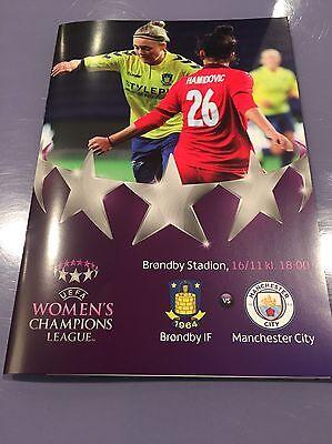 Brondby IF v Manchester City Women FC Football Programme (Season 2016)