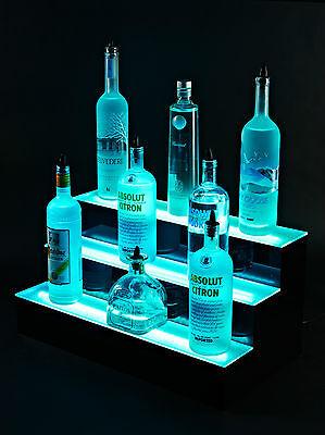 Armana Acrylic New 24 In 3 Tier Shelf Led Lighted Liquor Bottle Shelves