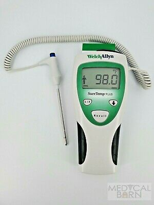 Welch Allyn Digital Thermometer Suretemp Plus 690 Probe Covers Batteries