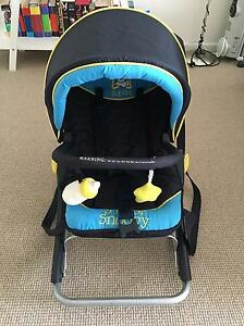 Baby rocker with shade hood and carry straps Caringbah Sutherland Area Preview