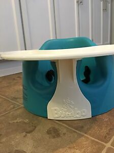Teal Bumbo with tray and straps $35.00