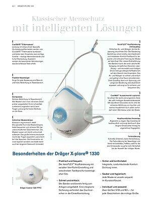 Dräger X-plore 1320 V FFP2 NR D Maske Atemschutzmaske Mundschutz Mundschutzmaske