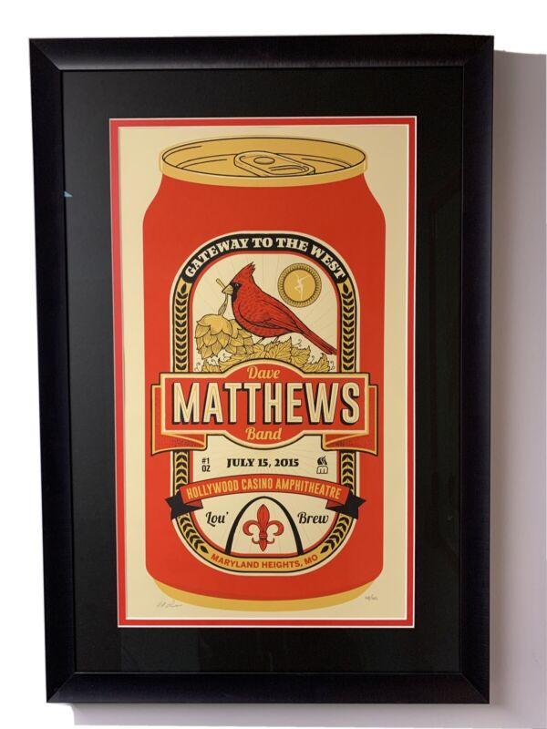 Dave Matthews Band Cardinals Poster DMB Maryland Heights Hollywood Casino