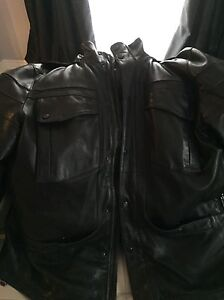 XXL real leather jacket with removable vest - West Island Greater Montréal image 4