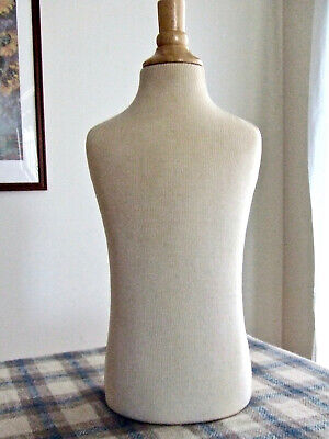 Rpm Childs Cloth Dress Form Mannequin Display With Wood Neck Block 22.5 Chest