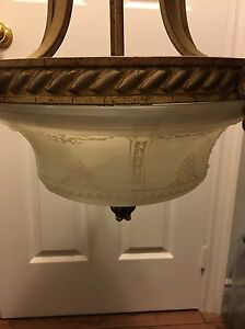 2 matching chandeliers with frosted glass dome Oakville / Halton Region Toronto (GTA) image 2