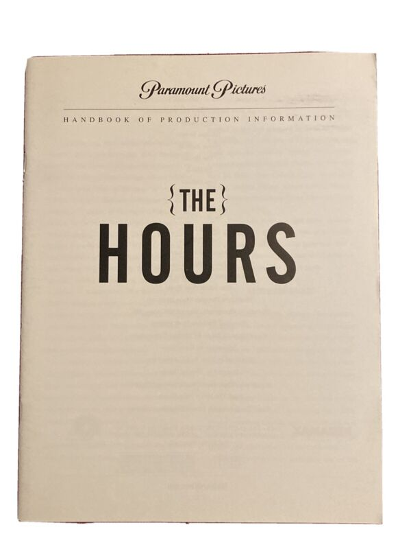 The Hours Production Notes 2002 Meryl Streep Julianne Moore Nicole Kidman