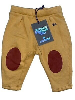 Nwt Bobo Choses Red Patches Jogging Pants Baby Size 6-12 Months
