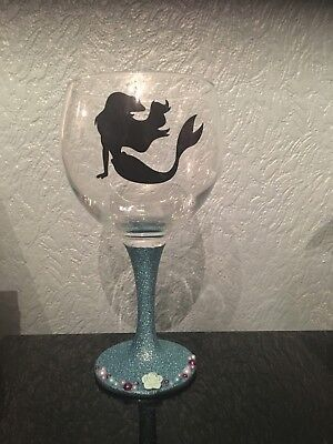 Glittered Gin Glass x Large Balloon Glass X The Little Mermaid X Disney X Ariel