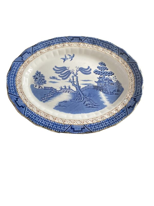 """Booths Real Old Willow Royal Doulton The Majestic Collection 13 3/4"""" Platter"""