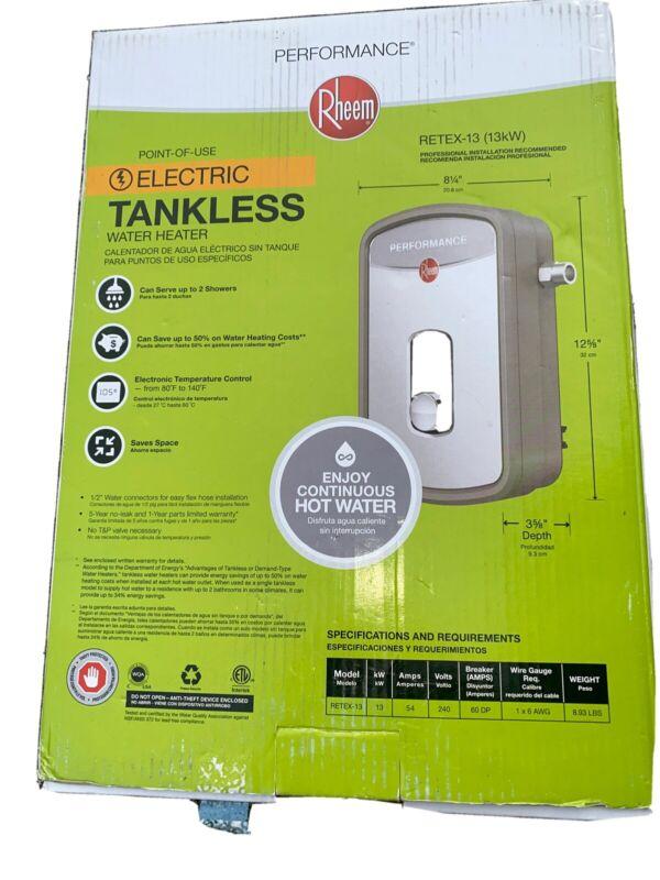 Rheem RETEX-13 Tankless Water Heater/Boiler - Gray