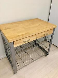Kitchen Island Bench Rubberwood Gladesville Ryde Area Preview