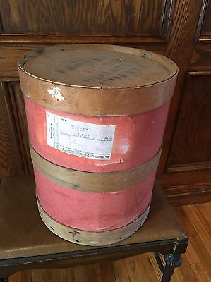 Primitive Vintage Roasted Coffee Wood Barrel Nailed Banded Antique Chicago USA
