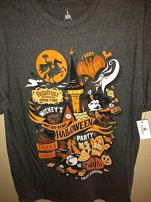 Halloween Party Logo (NEW 2018 Mickey's Not So Scary Halloween Party LOGO T-Shirt UNISEX)