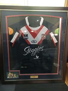 Sydney Roosters Nate Myles Worn Signed Jersey 2010 Jannali Sutherland Area Preview