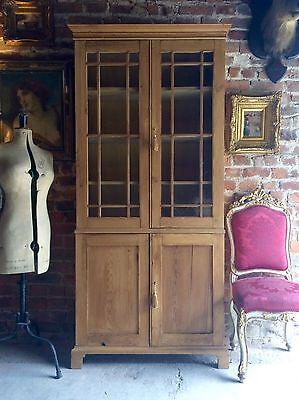Fabulous Antique Bookcase Dresser Display Cabinet Pine Victorian 19th Century