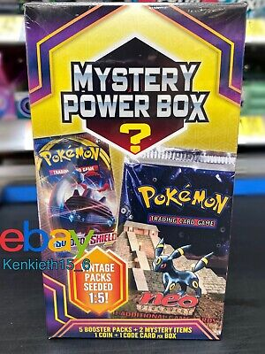 NEW Pokemon Mystery Power Box NEO DISCOVERY PACK Vintage Packs Sealed 2020