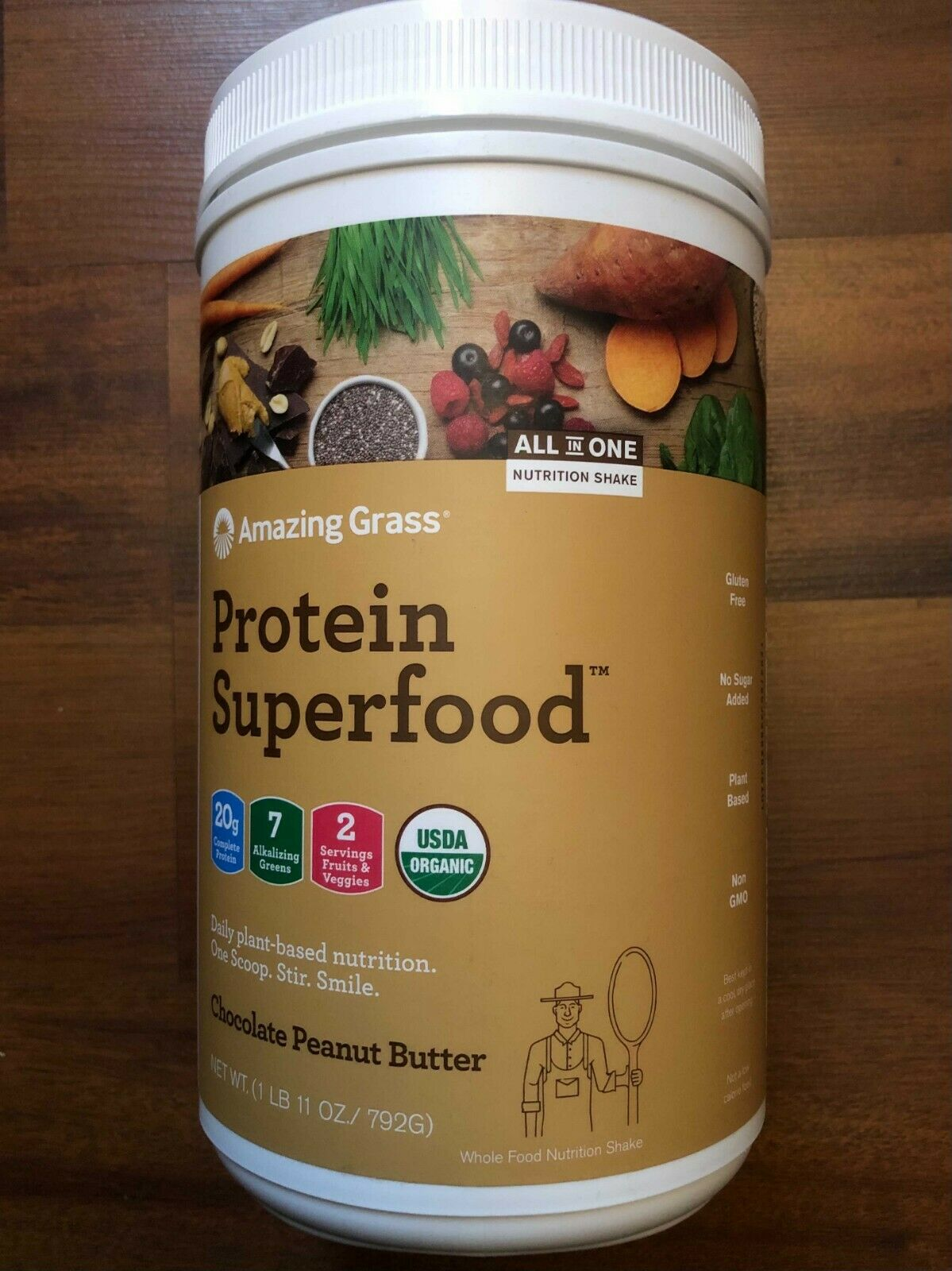 Amazing Grass Protein Superfood: Chocolate Peanut Butter, 18 Servings
