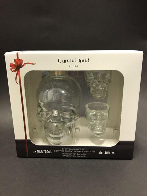 CRYSTAL HEAD Vodka 0,7l Flasche 40%Vol Totenkopf Skull + 2 Gläser Sealed NEU OVP