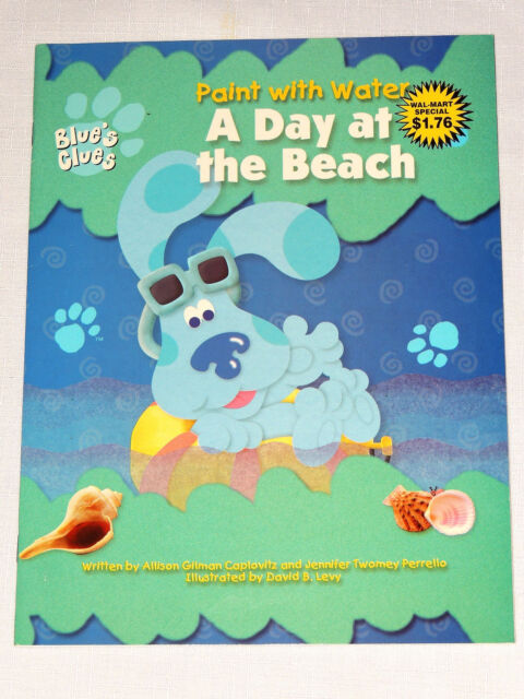 Blues Clues Paint and Water Coloring Book a Day at The Beach | eBay