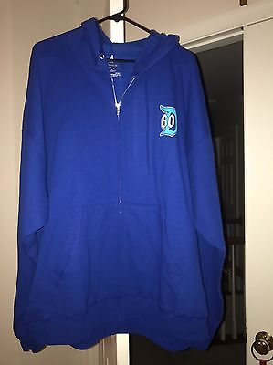 NWT Disneyland Diamond Celebration 60th Anniversary Blue Unisex Adult Hoodie 2XL