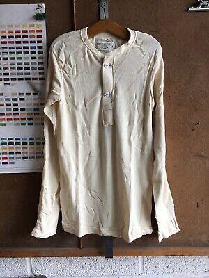 1970s Men's Shirt Styles – Vintage 70s Shirts for Guys Original Vintage Vietnam War Undershirt 1976 Men's Long Sleeves small $82.02 AT vintagedancer.com