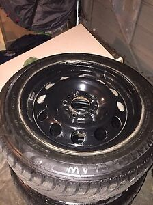 """Winter claw 16""""  winter tires on steel rim perfect condition"""