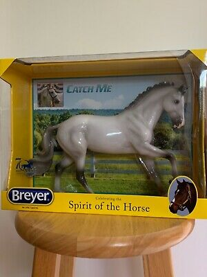 BREYER SR #1806 GLOSSY APPRECIATION CATCH ME GREY CANTERING WARMBLOOD MOLD NIB