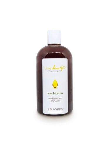 LECITHIN SOY UNBLEACHED fluid liquid skin hair nails health 48 OZ (3 X 16 OZ)