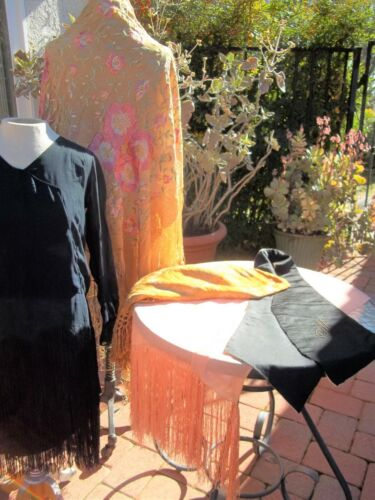 Antique Lot 5 Cutters cloth Flapper Dress Shawl Table Cloths Vest pre 1930