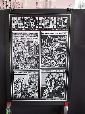 MAD PECK STUDIOS PROVIDENCE RHODE ISLAND COMIC POSTER 16x23 1978 NOIR RI