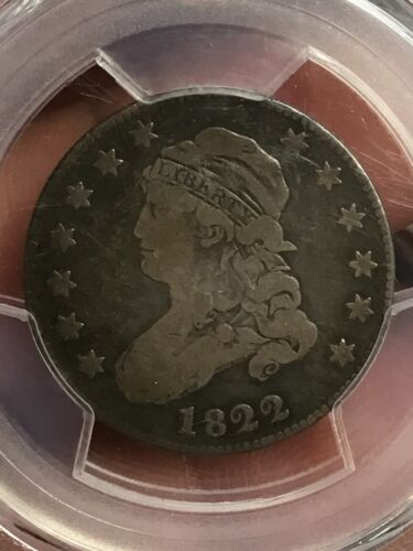 PCGS VG10 CAC 1822 CAPPED BUST QUARTER CRAZY NICE VERY SCARCE DATE