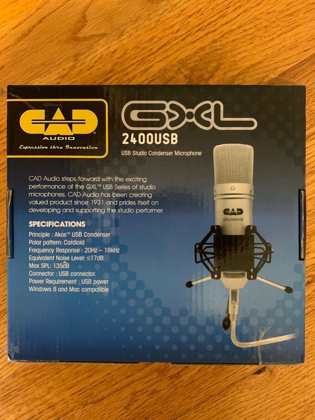 gxl2400usb studio condenser microphone new in unopened